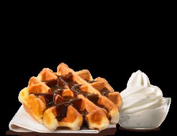 Belgian waffle whipped cream