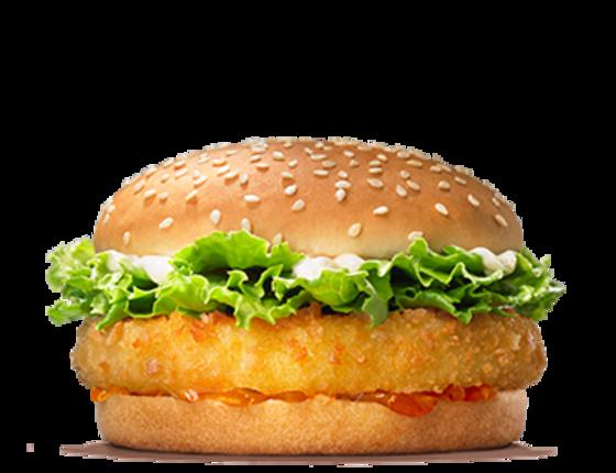 Curry chicken burger